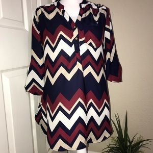 Wishful Park chevron blouse